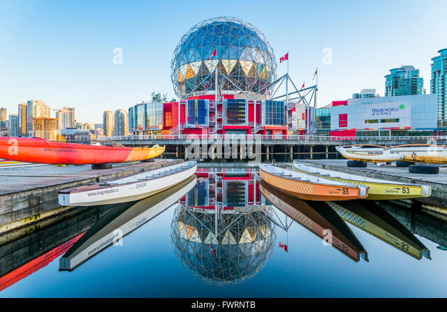 Telus Science World, False Creek, Vancouver British Columbia, Canada - Stock Image
