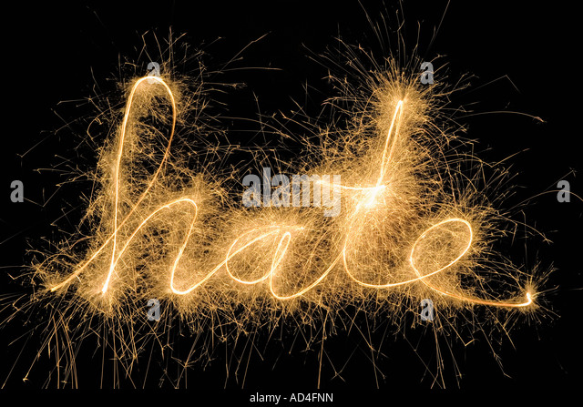 Hate' drawn with a sparkler - Stock Image