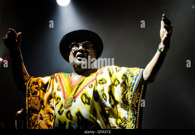 Charlton Park, Wiltshire, UK. 30th July, 2016. George Clinton Parliament Funkadelic headline the Open Air Stage - Stock-Bilder