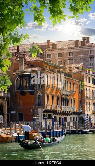 Travel to romantic Venice in summer, Italy - Stock-Bilder
