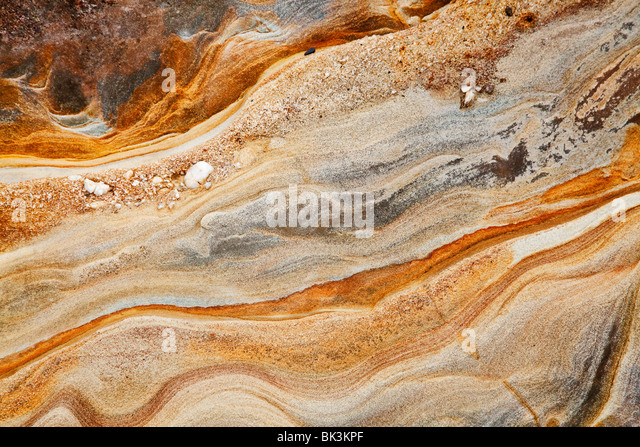 sedimentary rock background - Stock Image