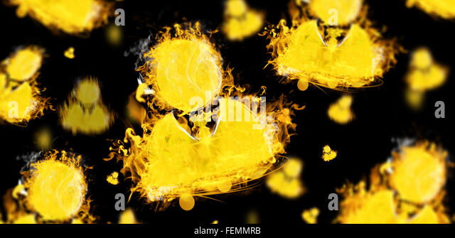Composite image of businessman sign on fire - Stock Image