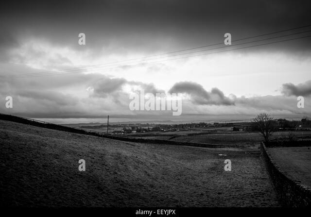 New year morning over Bolster Moor - Stock-Bilder
