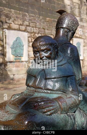 Friar Tuck statue, Nottingham, Nottinghamshire, England, United Kingdom, Europe - Stock Image