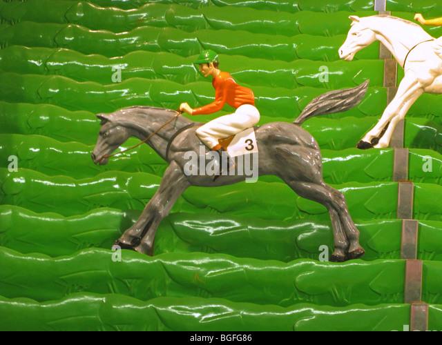 Amusement game toys - horse racing - Stock Image