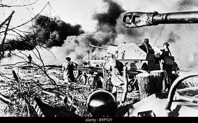 Violent battles at the approaches to Koenigsberg - Stock Image
