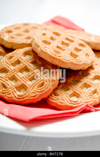 biscuits on a plate - Stock Image