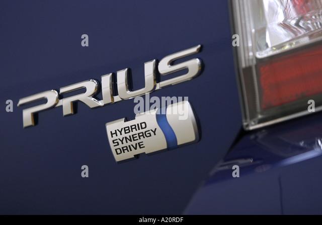 Toyota Prius hybrid engine vehicle - Stock Image