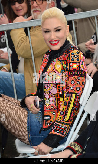 Los Angeles, California, USA. 10th February 2017. Singer Gwen Stefani at the Hollywood Walk of Fame Star Ceremony - Stock Image