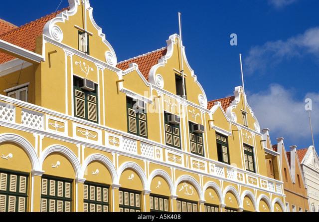 Curacao Netherlands Antilles Penha building Willemstad landmark national symbol iconic image - Stock Image