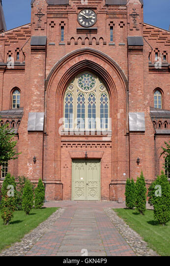 Tartu St Peter's Church of the Estonian Evangelical Lutheran Church. Tartu Estonia - Stock Image