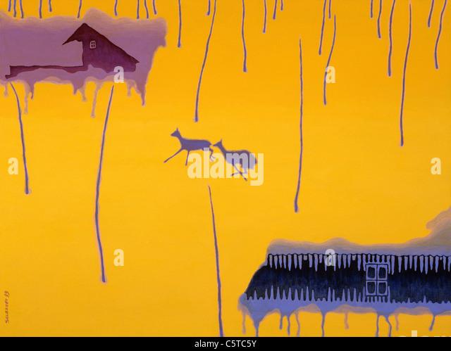 painting,postmodern,illustration - Stock-Bilder