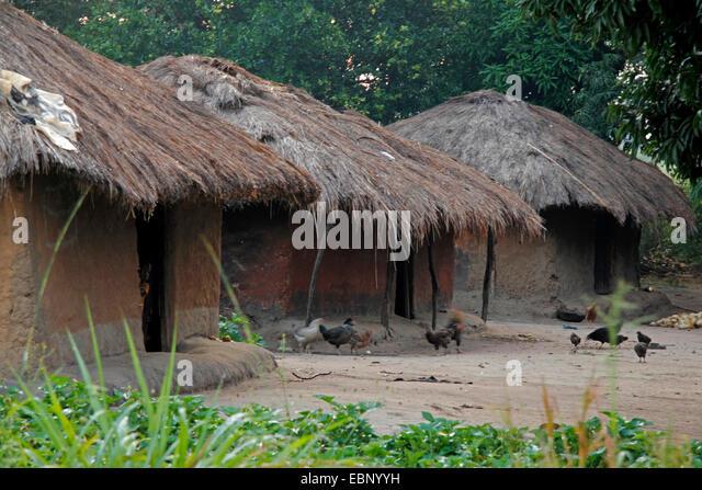 african village, Uganda - Stock Image