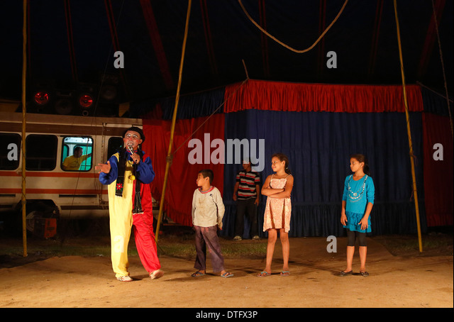 Traveling circus, Mechapa, Nicaragua - Stock Image