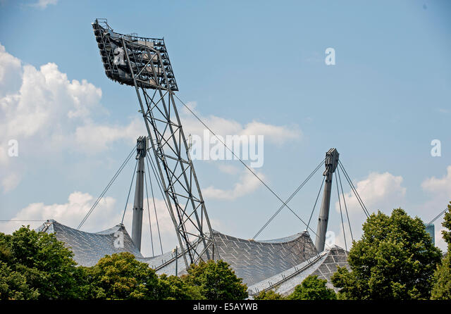 Deutschland, Germany,Bavaria,Bayern,Muenchen,Munich, Olympia-Park, Olympiade,1972, Fussball,Football,Stadion, - Stock-Bilder