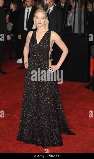 Uk, Uk. 5th Nov, 2015. Jennifer Lawrence attends the UK Premiere of 'The Hunger Games: Mockingjay Part 2' - Stock Image