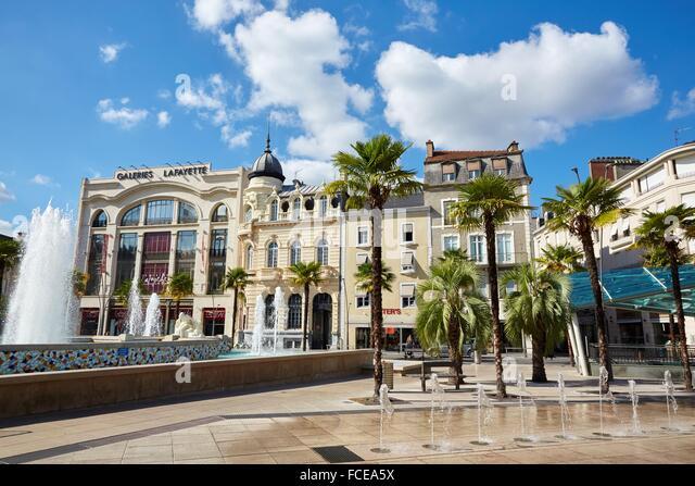 Place Clemenceau Square. Pau, Pyrenees - Atlantiques, Aquitaine, France. - Stock Image