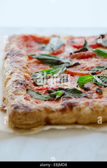Tomato Tart - Stock Image