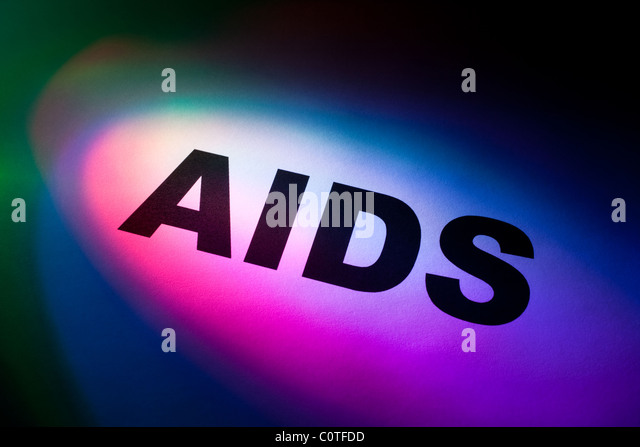 Color light word AIDS for background - Stock Image