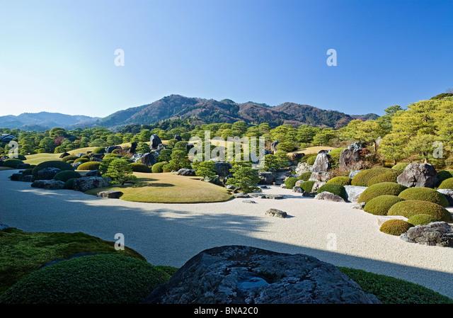 Dry Landscape Japanese Garden Shimane Prefecture, Japan. - Stock Image