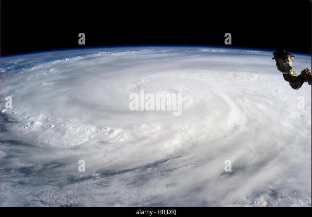 Typhoon Haiyan, ISS Photo, 2013 - Stock Image