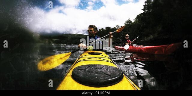 Kayak selfie - Stock Image
