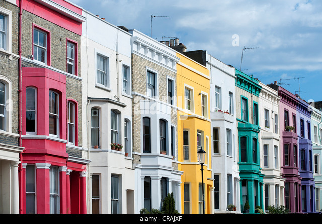Portobello road houses stock photos portobello road for House notting hill