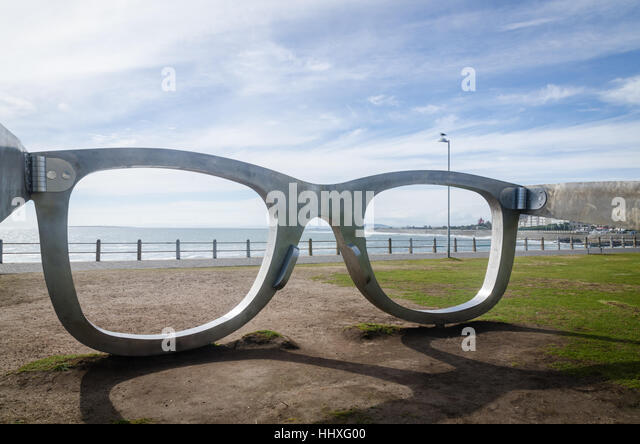 'Perceiving Freedom' art installation by artist Michael Elion, at Sea Point promenade, Cape Town, South - Stock Image