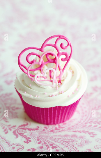 Valentine cupcake - Stock-Bilder