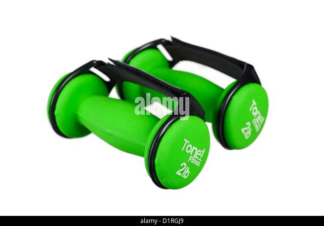 Dumbbells, tone fitness, walking fitness dumbbells with adjustable straps - Stock Image