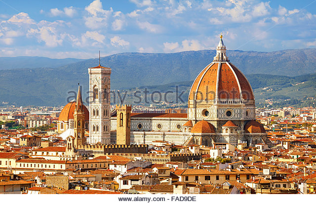Basílica de Santa Maria del Fiore, Florence, Tuscany, Italy - Stock Image