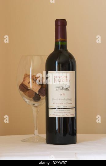 Domaine Joliette Cuvee Romain Mercier. Roussillon, France - Stock Image