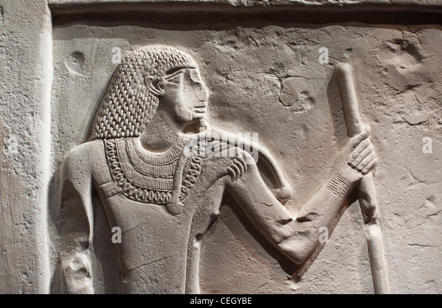 Egyptian hieroglyphics and papyrus stock photos