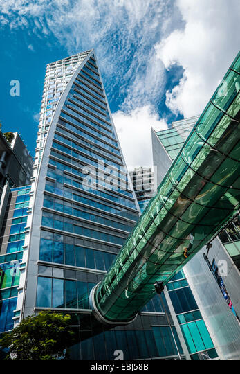 Modern buildings architecture in the commercial area of Singapore - Stock Image
