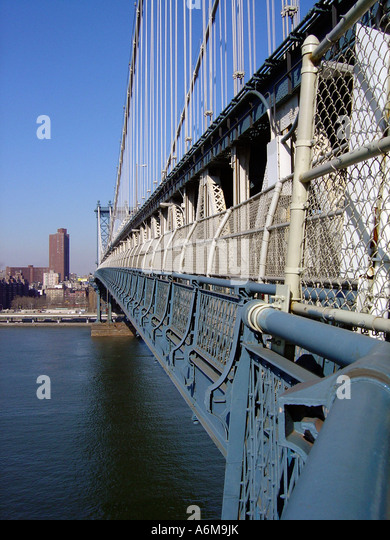 Manhattan Bridge New York City NYC - Stock Image