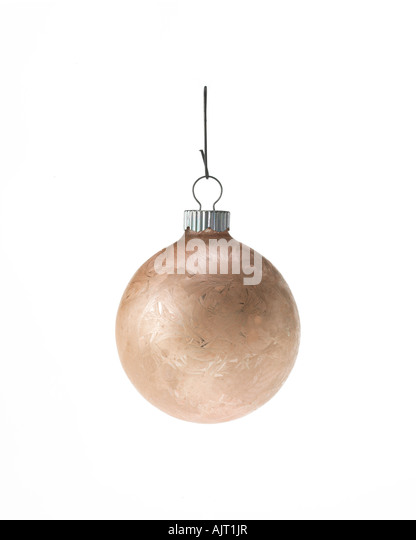 Christmas ornament hanging on hook - Stock Image