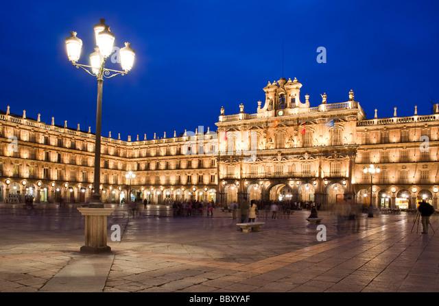 Plaza Mayor, Salamanca, Spain - Stock-Bilder