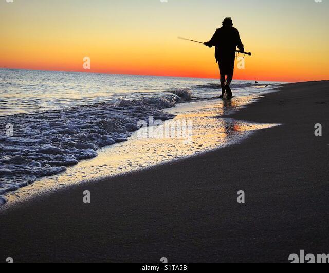 Walk on the beach - Stock Image
