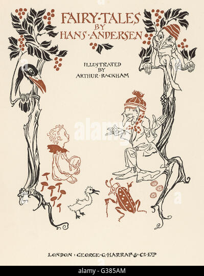 Rackham's title page to an illustrated edition of Andersen's Fairy Tales.       Date: 1932 - Stock Image