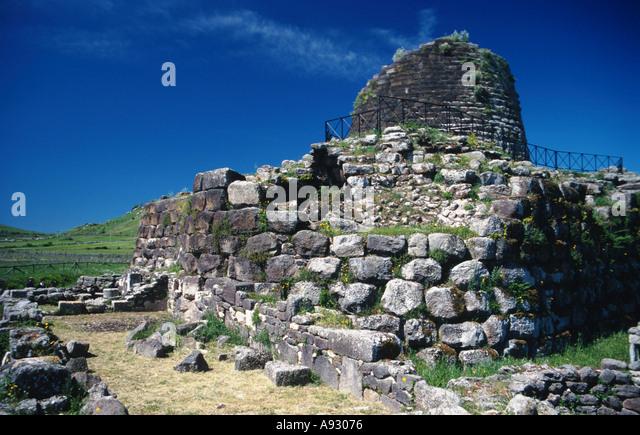 Italy Sardinia Sardegna Nuraghe Santu Antine near Torralba - Stock Image
