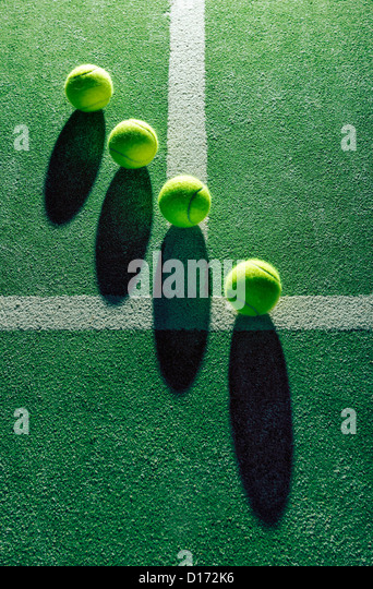 Abstract view of tennis ball´s. - Stock-Bilder