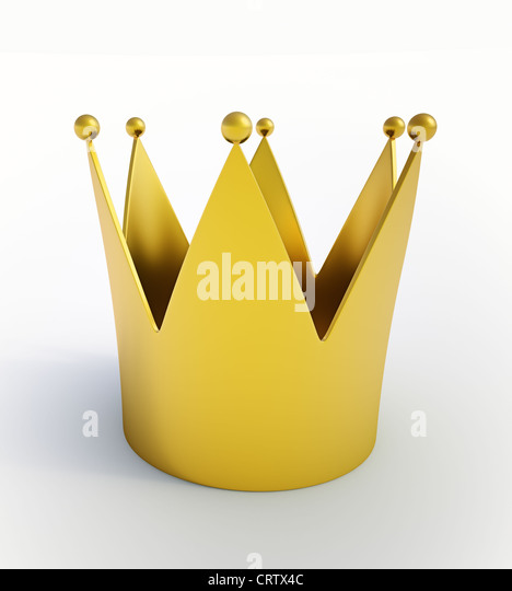 Isolated CG crown illustration - Stock Image
