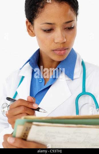 Portrait of medical professional - Stock Image
