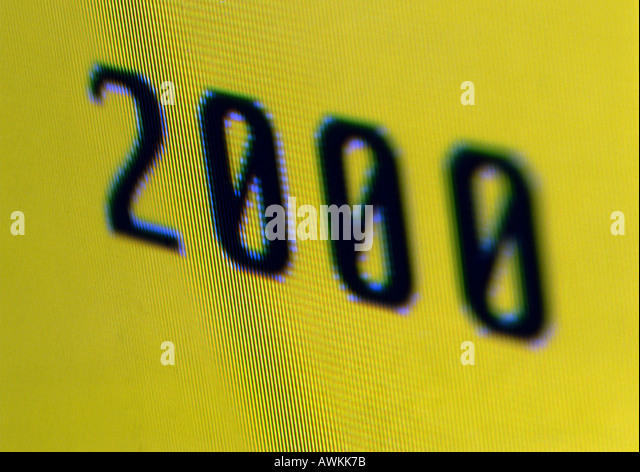 2000 text. - Stock Image