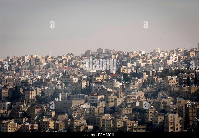 The Jordanian capital of Amman. - Stock Image