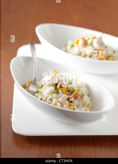 Close up of bowls of risotto - Stock Image