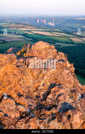 Ironbridge coal fired Power Station, seen from the Wrekin hill, Shropshire, UK - Stock Image