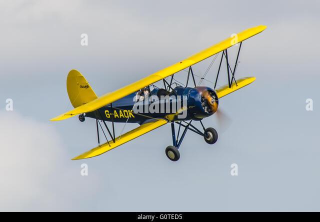 The Curtiss-Wright /Travel Air CW-12Q Sport Trainer were high-performance training aircraft. G-AAOK built 1929 - Stock-Bilder