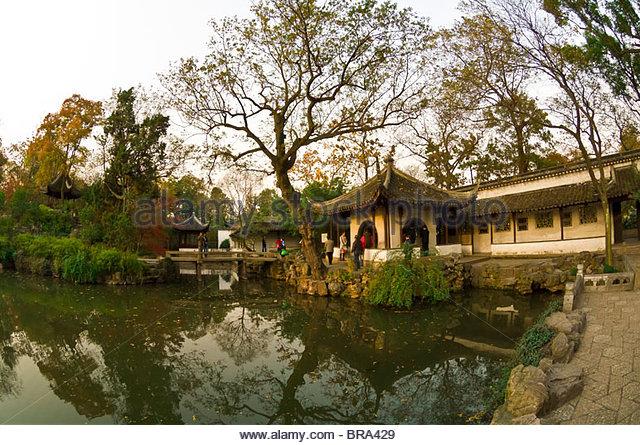 Humble Administrator's Garden, Suzhou, China - Stock Image