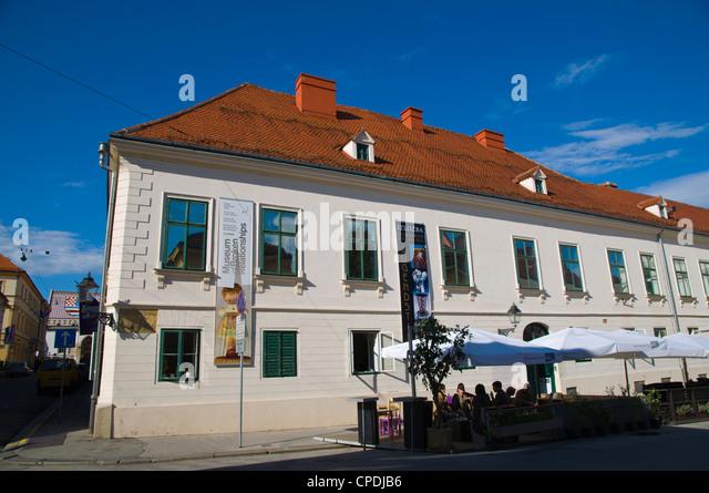 Museum of Broken Relationships exterior Katarinin trg square Gradec the old town Zagreb Croatia Europe - Stock Image